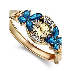 Dames Modieus horloge Armbandhorloge Kwarts imitatie Diamond Legering Band Bangle Elegant Goud