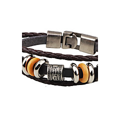 cheap Men's Bracelets-Men's Leather Bracelet - Leather Anchor Punk Bracelet Jewelry Black / Coffee For Casual Stage