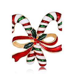 Muškarci Žene Broševi Chrismas Moda Pozlata od crvenog zlata Legura Jewelry Za Nova Godina Božić