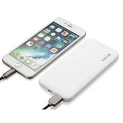 billige Eksterne batterier-waza 6000 mah for strømbatteri eksternt batteri 5 v for 2 a for batterilader overladningsbeskyttelse / overladningsbeskyttelse / kortslutningsbeskyttelse ledet / med kabel