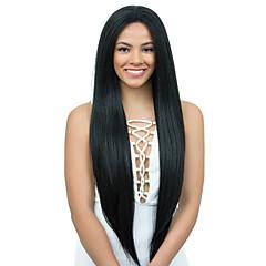 billiga Peruker och hårförlängning-Obehandlad hår Hel-spets Spetsfront Peruk Brasilianskt hår Yaki Rakt 130% 150% 180% Densitet Med Babyhår obearbetade 100% Jungfru
