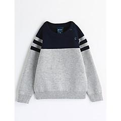 billige Overdele til drenge-Baby Drenge Stribet Stribe Langærmet Bomuld Bluse
