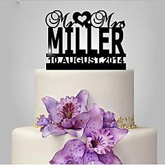קישוטים לעוגה לבבות חתונה נושא קלאסי חתונה תיק פולי