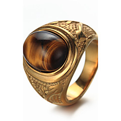 cheap Men's Rings-Men's Ring - Titanium Steel Luxury, Vintage, Punk, Fashion, Elegant Jewelry Gold / Silver For Birthday Gift Daily Street Club 7 / 8 / 9 / 10 / 11