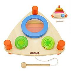 צעצועיערכת עשה זאת בעצמך אבני בניין צעצועים מוזיקליים צעצוע חינוכי צעצועים מלבני ערכת תוף כלים מוסיקליים מערכת תופים חתיכות נערים בנות