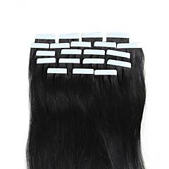 cheap Tape in Hair Extensions-Febay Tape In Human Hair Extensions Straight Blonde Auburn Brown Human Hair Extensions Remy Human Hair 16-24 inch Soft / Silky / Nano Women's