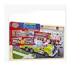 Holzpuzzle Spielzeugautos Züge Feuerwehrauto Spielzeuge Dinosaurier Schleppe LKW keine Angaben Stücke