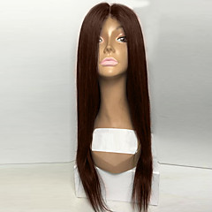 cheap Wigs & Hair Pieces-top natural black silk straight synthetic lace front wigs 100 heat resisitant synthetic hair for women in stock