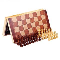 tanie Gra w szachy-Szachy Zabawka edukacyjna Gadżety antystresowe Prostokątny Kwadrat Drewniany Dla dzieci Dla obu płci Prezent