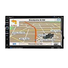 Autoradio audio 2 din 6,95 zoll lcd touchscreen video auto dvd-player gps navigation bluetooth