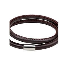 Herrn Damen Lederarmbänder Modisch Simple Style Leder Kreisform Schmuck Für Alltag Ausgehen