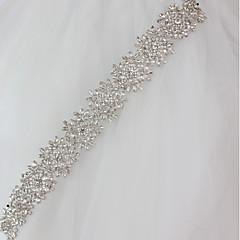 preiswerte Partyschärpen-Polyester/Baumwolle Hochzeit Besondere Anlässe Schärpe With Strass Applikationen Pailetten Damen Schärpen