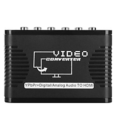 video converter adapter YPbPr inngang til hdmi utgang 5 rca port støtte 720p 1080p audio converter