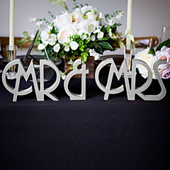 cheap -Wood Table Center Pieces-Personalized Character Piece/Set Wedding Reception
