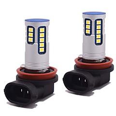 billige Tåkelys til bil-2 stk super lys lyshet original bil belysning mønster can-bus led tåkelykt 24w 2400lm 6500k h8 h9 h11 led pære for hyundai vw toyota ford