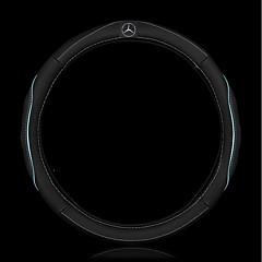 Automotivo Capas para Volante(Couro)Para Mercedes-Benz Todos os Anos Classe C GLA GLC Classe E