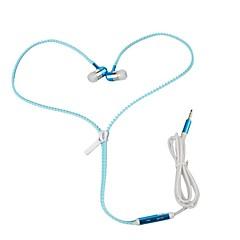 billiga Headsets och hörlurar-I öra Kabel Hörlurar Dynamisk Aluminum Alloy Mobiltelefon Hörlur Självlysande / mikrofon headset