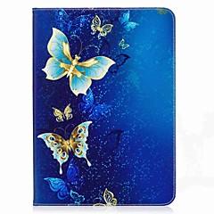 perhonen kuvio kortin haltija lompakko, jossa seisomaan flip magneettinen pu nahkakotelo samsung galaxy välilehti s2 t810 t815 9,7 tuuman