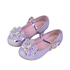 cheap Wedding Shoes-Girls' Shoes Synthetic Spring Fall Comfort Flats Crystal Beading Sequin Imitation Pearl Sparkling Glitter Hook & Loop for Wedding Casual
