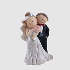 billige Kakedekorasjoner-Kakepynt Eventyr Tema Bryllup Sweet Style Enkel Stil Plast Bryllup jubileum med 1 Gaveeske