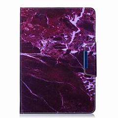marmor mønster kortholder med stand flip magnetisk pu lærveske kort veske med mønster for samsung galaxy tab en t550 t555c 9,7 tommers