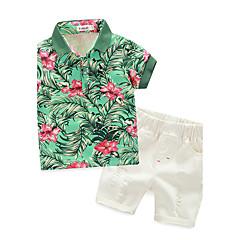 ieftine Haine de Băieți-Băieți Set Îmbrăcăminte Bumbac Vară Manșon scurt Alb