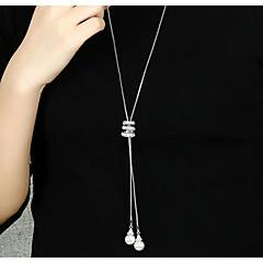 abordables -Femme Autres Forme Géométrique Mode Elégant Pendentif de collier Collier Y Cristal Perle imitée Alliage Pendentif de collier Collier Y ,