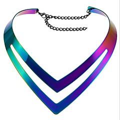 בגדי ריקוד נשים שרשראות מחרוזת תכשיטים Geometric Shape סגסוגת סטייל פאנק תכשיטים עבור יומי קזו'אל