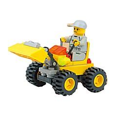אבני בניין מחפר על גלגלים צעצועים מכונות חפירה 1 חתיכות