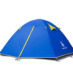 billige Telt og ly-3-4 personer Telt Dobbelt camping Tent Ett Rom Turtelt Vandring til Strand Camping / Vandring / Grotte Udforskning Reise Camping &