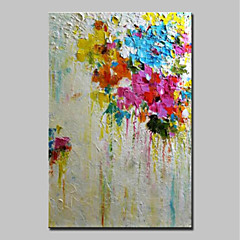 billiga Oljemålningar-Hang målad oljemålning HANDMÅLAD - Abstrakt Abstrakt / Moderna Inkludera innerram / Sträckt kanfas