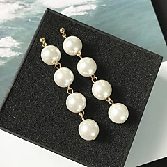 Women's Obsidian Drop Earrings - Pearl Gold / Silver For Wedding Date