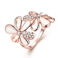 levne -Dámské Široké prsteny Nail prsteny Boxer Kubický zirkon Módní Přizpůsobeno Zirkon Růže pozlacená Slitina Circle Shape Geometric Shape