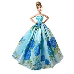 Χαμηλού Κόστους Αξεσουάρ για κούκλες-Πριγκίπισσα Φορέματα Για Κούκλα Barbie Βυσσινί Πράσινο + Μπλε + Ροζ + Μωβ Πολυεστέρας Φόρεμα Για Κορίτσια κούκλα παιχνιδιών