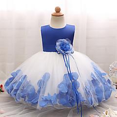 billige Babytøj-Baby Pige Blomst Uden ærmer Bomuld Kjole