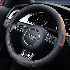 billige Rattovertrekk til bilen-Rattovertrekk til bilen Lær 38 cm Brun / Svart / Rød For Universell General motors Alle år