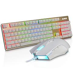 ajazz verdrahtet rgb hintergrundbeleuchtung beleuchtet multimedia ergonomisch usb gamingblue schalter mechanik tastatur 3200dpi 8 tasten