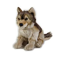 Peluches Jouets Tête de Loup Animaux Pièces