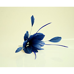 Χαμηλού Κόστους -Στρας Φτερό Χτενιές Μαλλιών Λουλούδια Headpiece