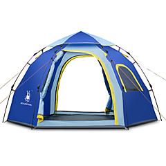 3-4 personer Telt Skjermtelt Strandtelt Kanapetelt Enkelt camping Tent Ett Rom Automatisk Telt Pusteevne til Strand Camping / Vandring /