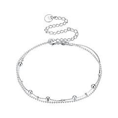 billige Kropssmykker-Sølvplett - Dame Sølv Enkel / Grunnleggende / Sexy Geometrisk Form / Uregelmessig Ankel Til Gave / Stevnemøte