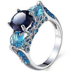 Herre Dame Knokering Forlovelsesring Kubisk Zirkonium Zirkonium Kobber Rund Form Geometrisk Form Smykker Til Bryllup Fest Bursdag