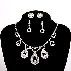 cheap Necklaces-Women's Rhinestone Chain Necklace - Elegant Necklace For Wedding Party Engagement