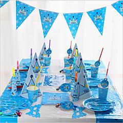 Verjaardag Nieuwe baby Feestaccessoires Hoeden Serviessets Keuken Gerei Ornamenten Kunststoffen Papier Strand Thema Watersport Sprookjes