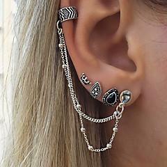 Naisten Niittikorvakorut Metalliseos Crown Shape Riippua Korut Käyttötarkoitus Pyhäpäivä