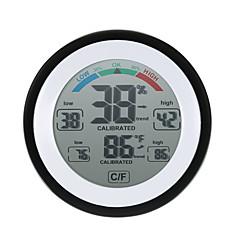 preiswerte Werkzeug & Ausrüstung-hochpräzise mini elektronische thermometer hygrometer haushalt kreative innen wand montiert psychrograph