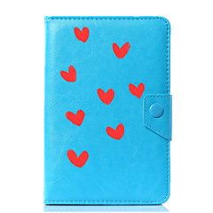 povoljno -univerzalno srce pu kožni štand kućište za 7 inčni 8 inčni 9 inčni 10 inčni tablet pc