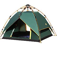 3-4 personer Telt Skjermtelt Dusj Telt Dobbelt camping Tent Ett Rom Automatisk Telt Vanntett Glidelås Anvendelig til Camping / Vandring /