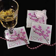 Glass Flower Style Coaster Favors-1 Piece/Set Floral & Botanicals