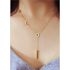 cheap Necklaces-Women's Rose Gold Pendant Necklace - Korean European Geometric Rose Gold Necklace For Wedding Daily